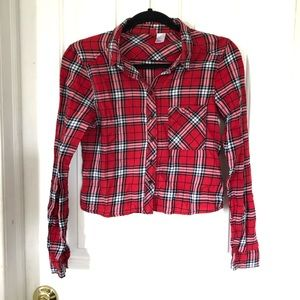 H&M   2   Cropped Button Down Flannel